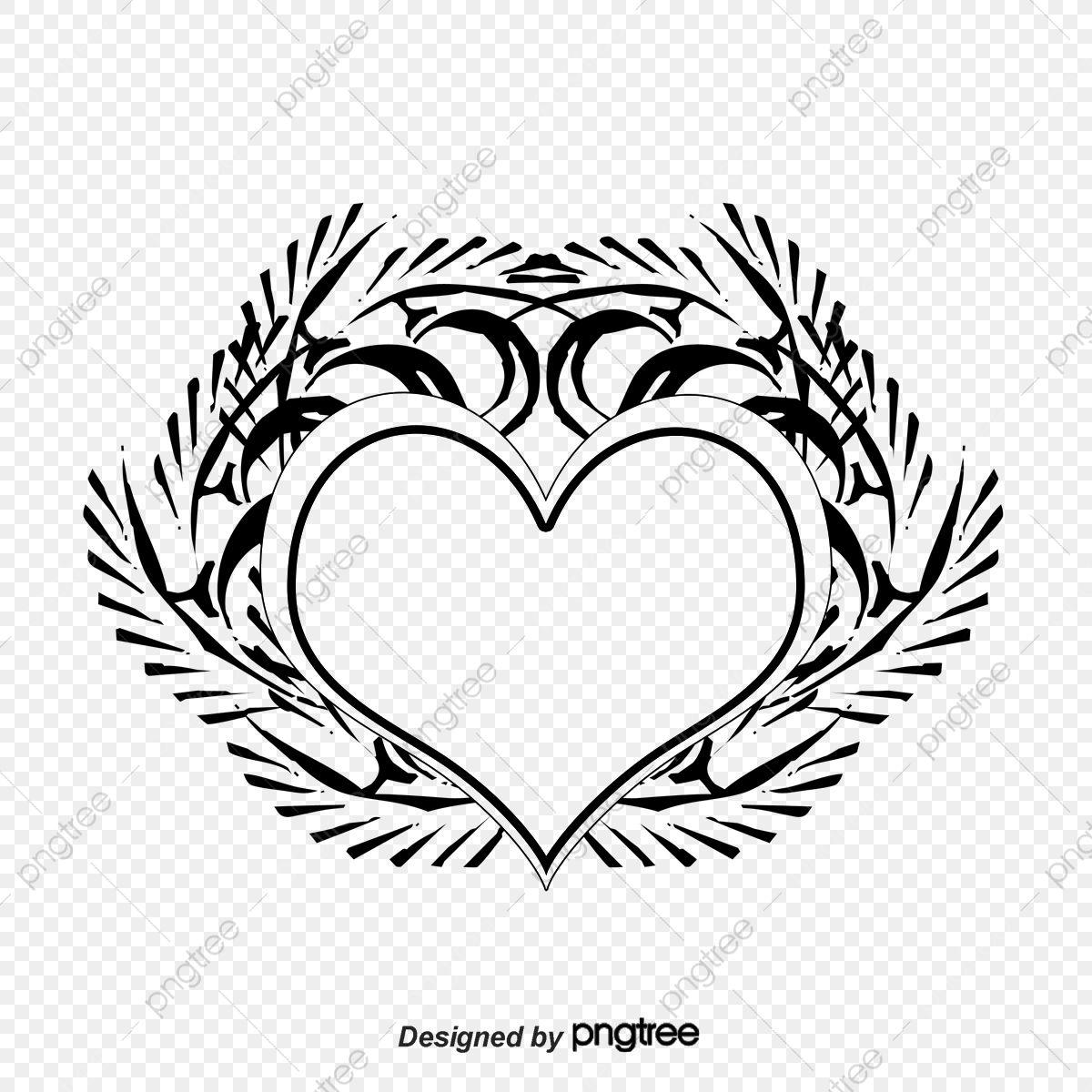 الوشم القلب الوشم شكل قلب أسود Png وملف Psd للتحميل مجانا Heart Tattoo Tattoos Art