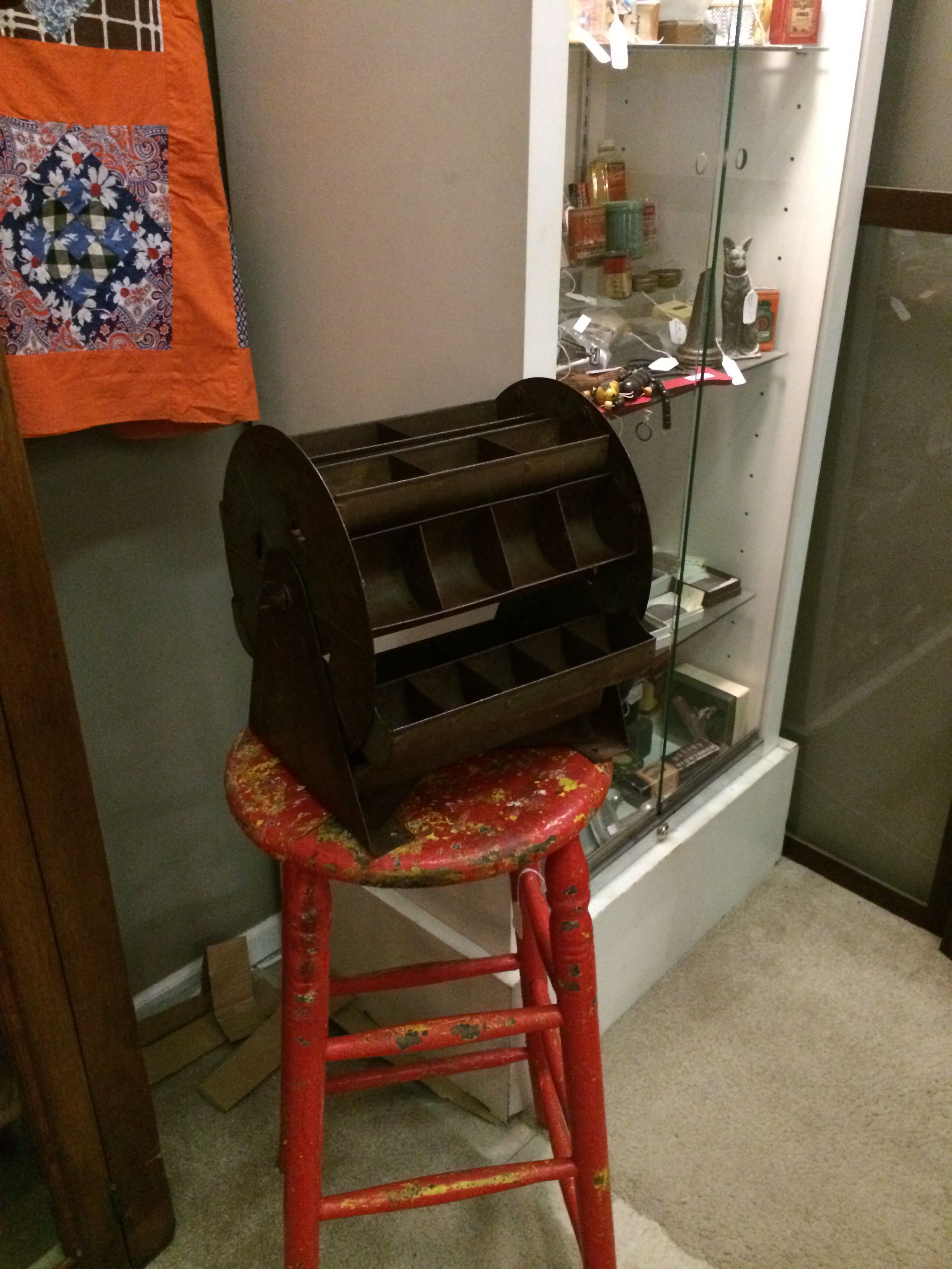 Vintage parts bin to use for organizing! Railroad Towne Antique Mall, 321 W. 3rd ST., Grand Island, NE 68803.  308-398-2222.