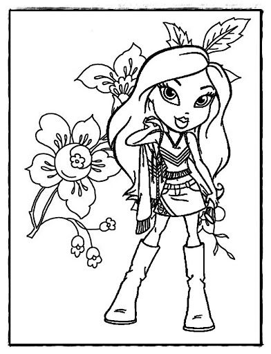 Pretty Bratz coloring book for kids. Easy and complex coloring pages ...