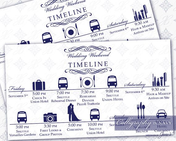 DIY Printable Wedding Timeline Template by WeddingsbyJanieV - timeline template