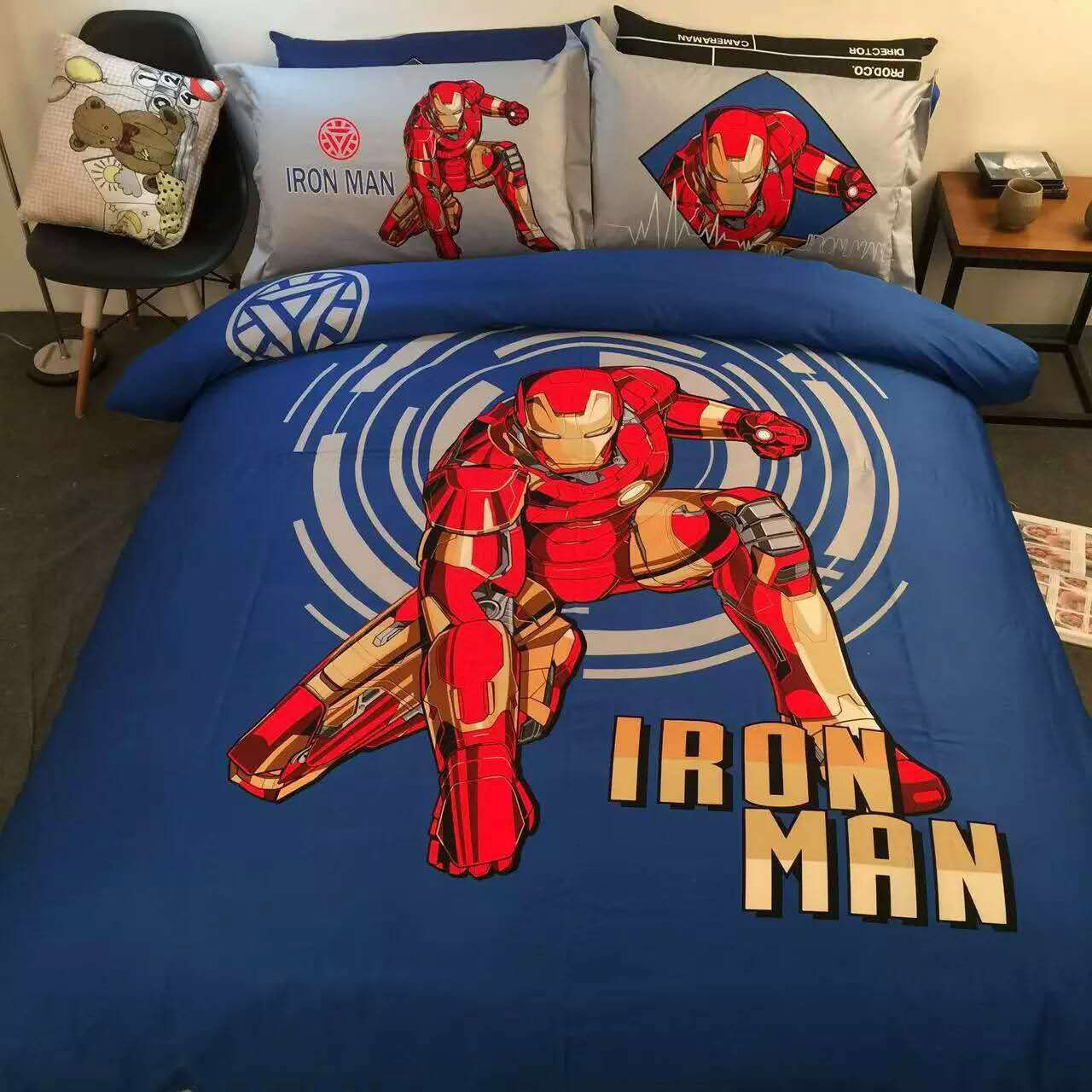 Sport Do All Seasons Iron Man Bedding Sets Stereo Pattern Pure Cotton Cartoon Duvet Cover And F Kids Bedding Sets Boys Kids Twin Bedding Sets Kids Bedding Sets