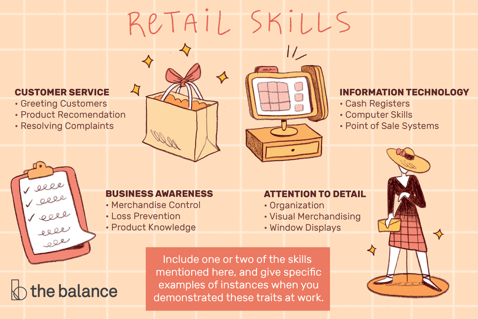 top 8 necessary retail skills list of skills, cashier cv format in word applications engineer resume sample for accounts receivable