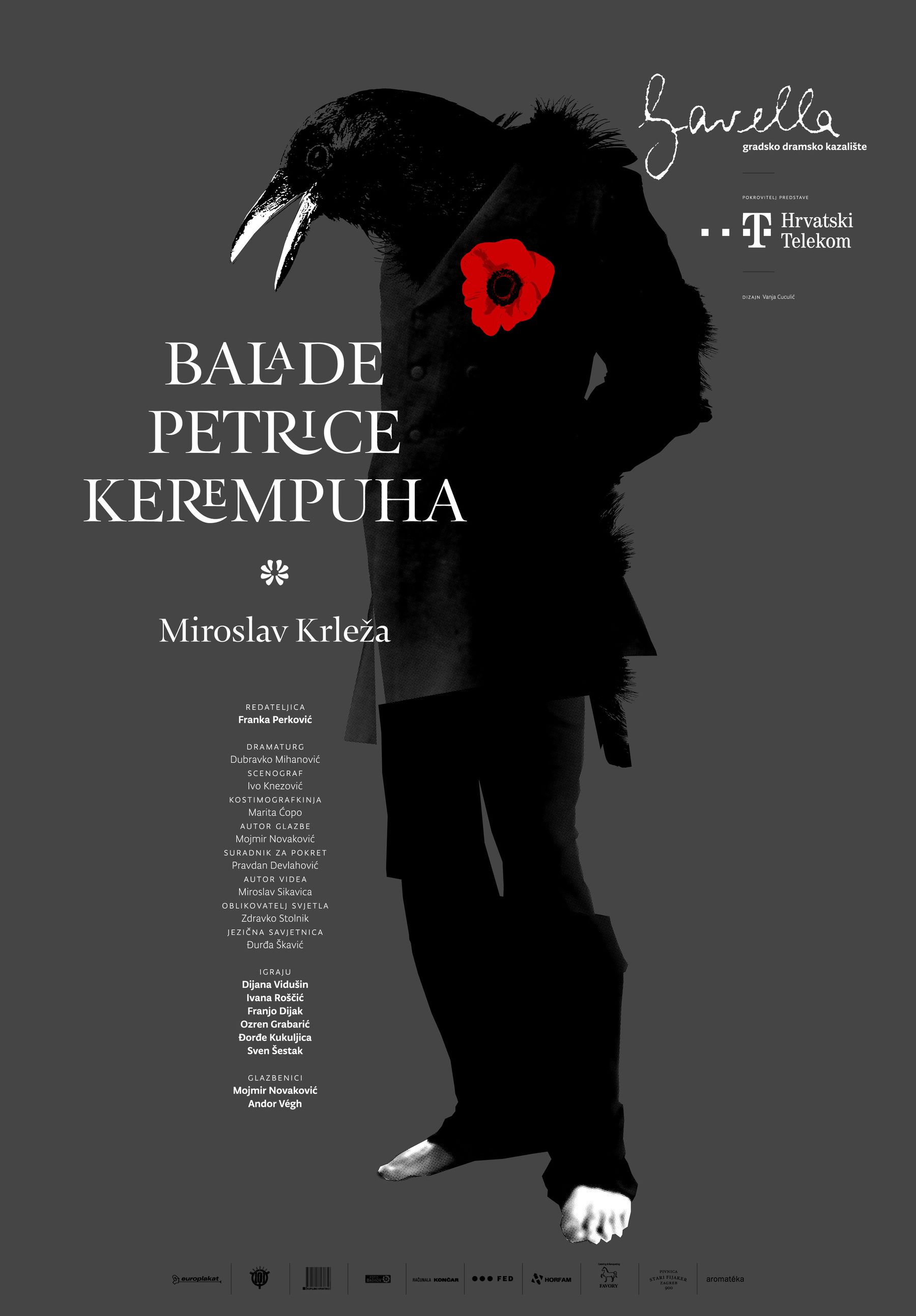 Krleza Ballads Of Petrica Kerempuh Theatre Poster Design By