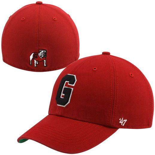 d95d969e2a6 47 Brand Georgia Bulldogs New Vault Franchise II Fitted Hat - Red ...