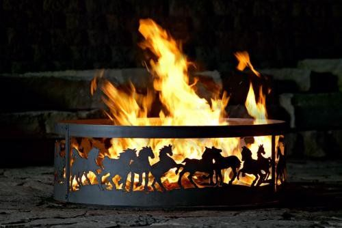 (CLICK IMAGE TWICE FOR UPDATED PRICING AND INFO) #home #outdoor #firepit #outdoorfirepit #tablefirepit #outdoorpatiofirepit #portablefirepit see more patio fire pit at http://zpatiofurniture.com/category/patio-furniture-categories/patio-fire-pit/ - Mustang Decorative Fire Ring, 38 in. diameter « zPatioFurniture.com