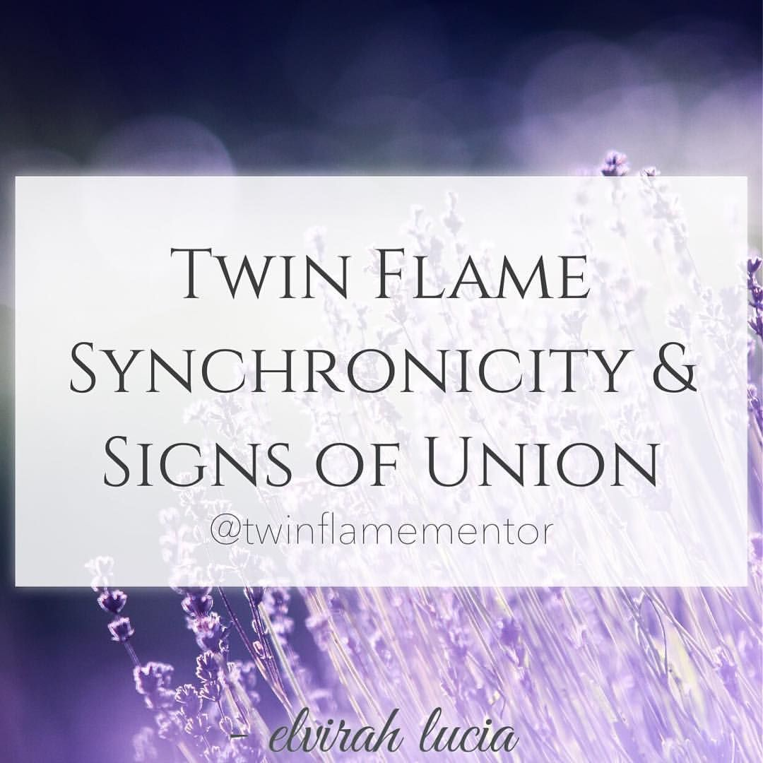 Twin flame synchronicity signs