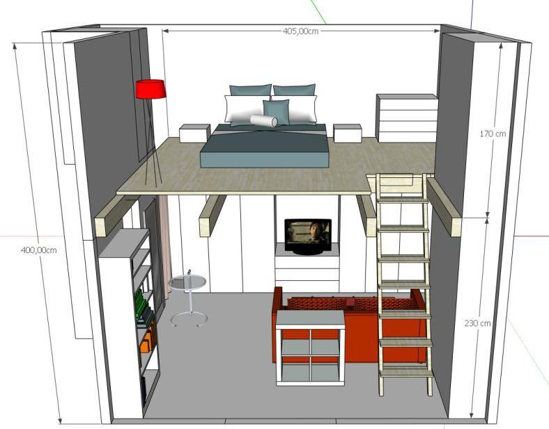 progetto soppalco per creare una camera da letto nel 2019 ...