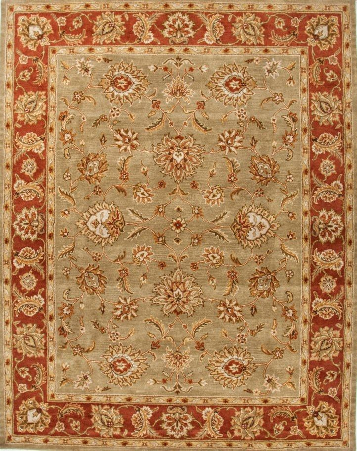 Addison And Banks Hand Tufted Abr0524 Kelp Brick Red Area Rug