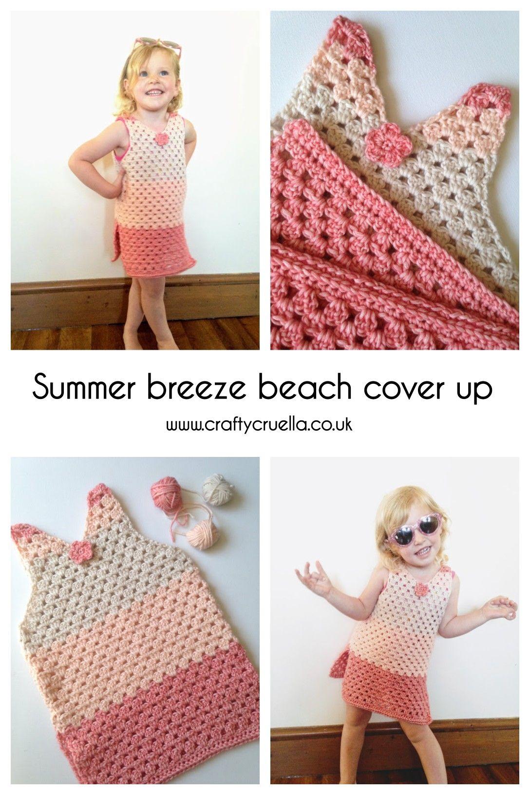Summer Breeze Beach Cover Up Crochet Pattern Crafty Cruella Crochet Toddler Crochet Summer Tops Summer Crochet