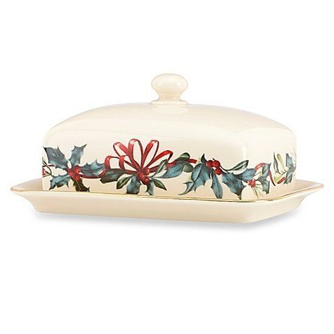 Lenox winter greetings covered butter dish 25 free shipping or lenox winter greetings covered butter dish 25 free shipping or pick up m4hsunfo