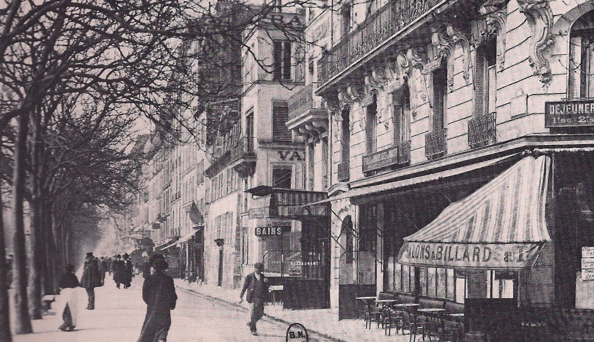 Closerie de Lilas, Montparnasse, 1910. (from Kiki's Paris by Billy Kluver and Julie Martin)