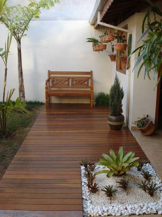 Piso De Madera Para Patios Y Terrazas Tendencias 2019 2020 Jardines De Casas Pequenas Diseno De Patio Decoracion De Patio
