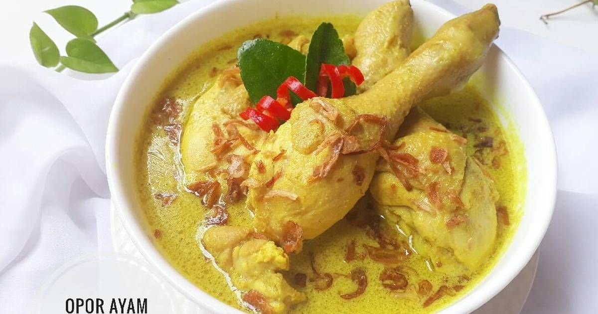 Resep Opor Ayam Kuning Oleh Sukmawati Rs Resep Resep Resep Masakan Masakan