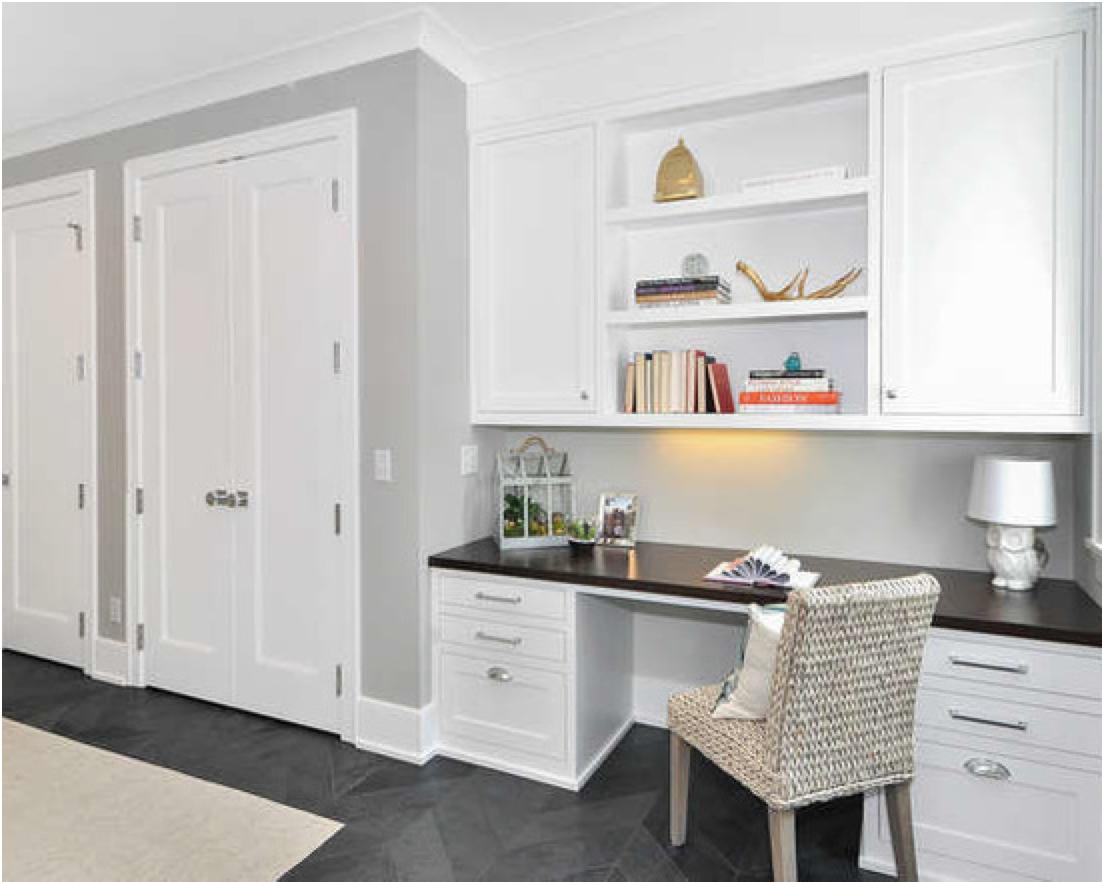 Closet Doors And Desk And Built Ins Via Houzz