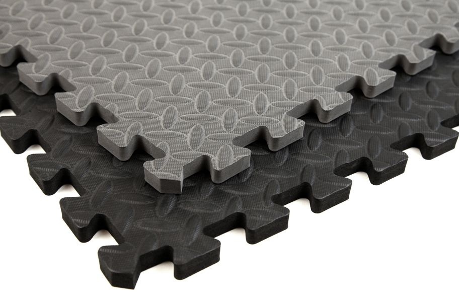 incstores diamond soft extra thick anti fatigue interlocking foam tiles 25 pack black x tiles ideal for laundry room flooring kitchen mats exercise mats - Soft Tile Flooring Kitchen