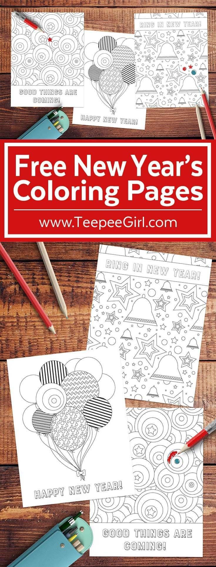 Free New Year Coloring Pages | Churches, Plays and Free
