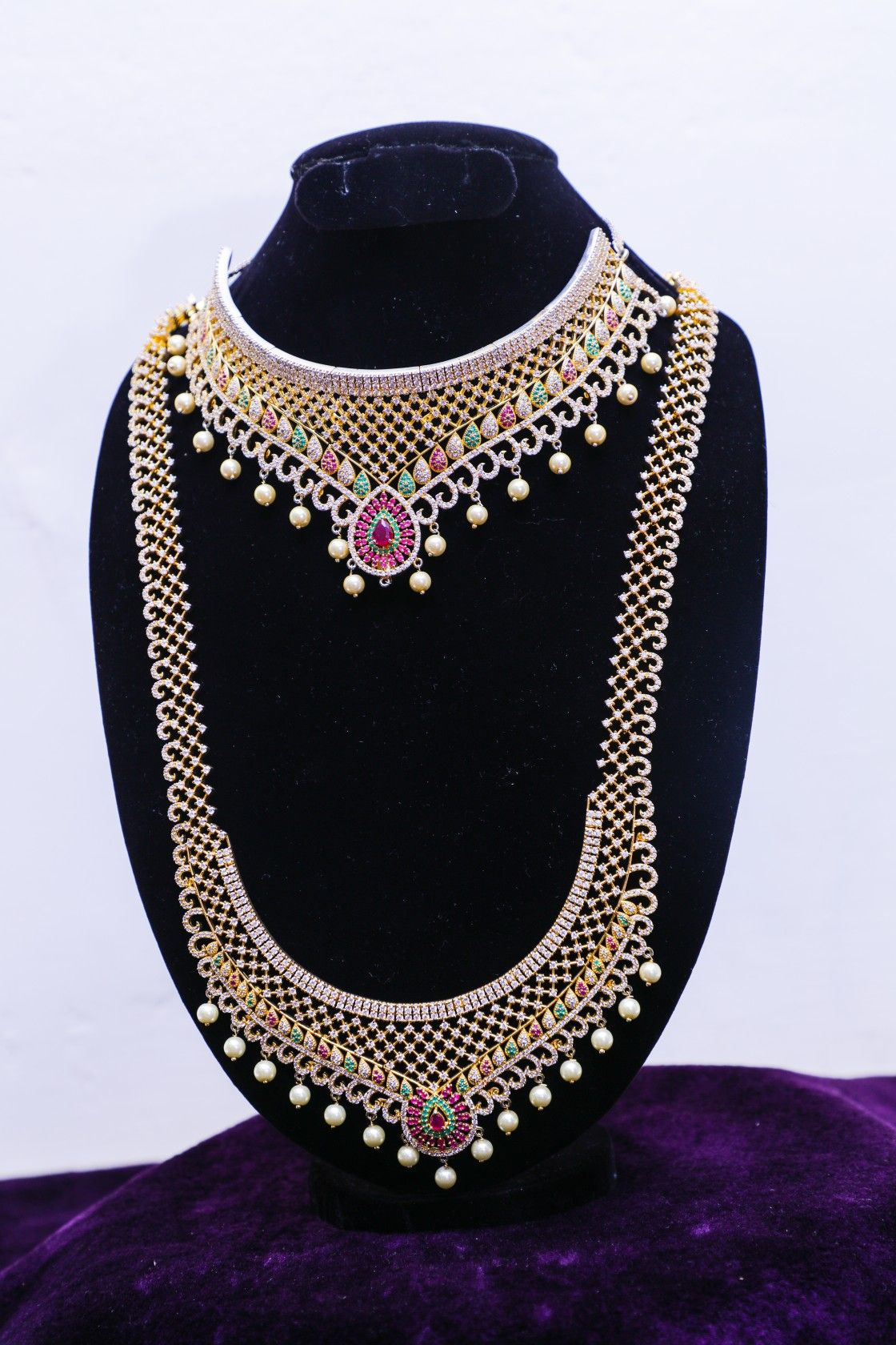 Bridal Jewellery For Rent : bridal, jewellery, Multicolor, Chocker, Bridal, Reasonable, Price!, Jewelry, Sets,, Jewelry,