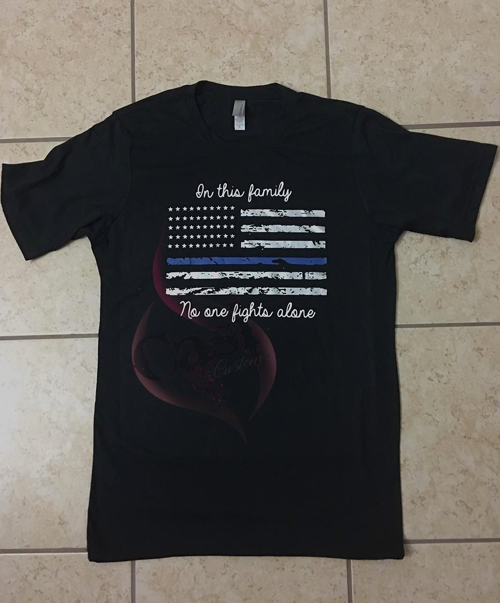 Thin Blue Line: In this family no one fights alone by CasiCustoms on Etsy