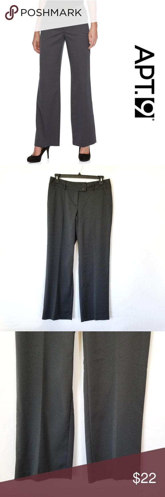 5edeac26a8bc0 Apt. 9 Modern Fit Midrise Wide-Leg Dress Pants 12 New with tags.