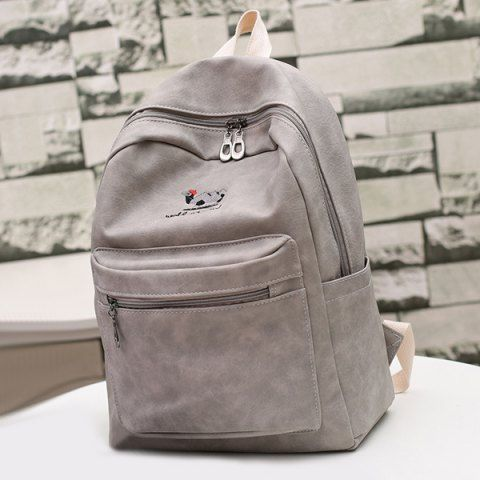 GET $50 NOW | Join RoseGal: Get YOUR $50 NOW!http://m.rosegal.com/satchel/zippers-embroided-pu-leather-backpack-873881.html?seid=7652968rg873881