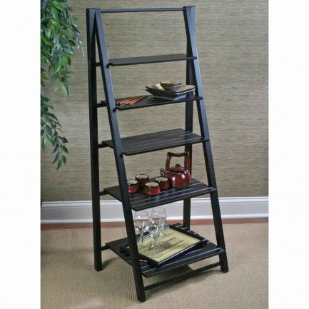 Most Popular Ladder Bookshelf Leaning Plans For Home Office And Cape Nantucket Black