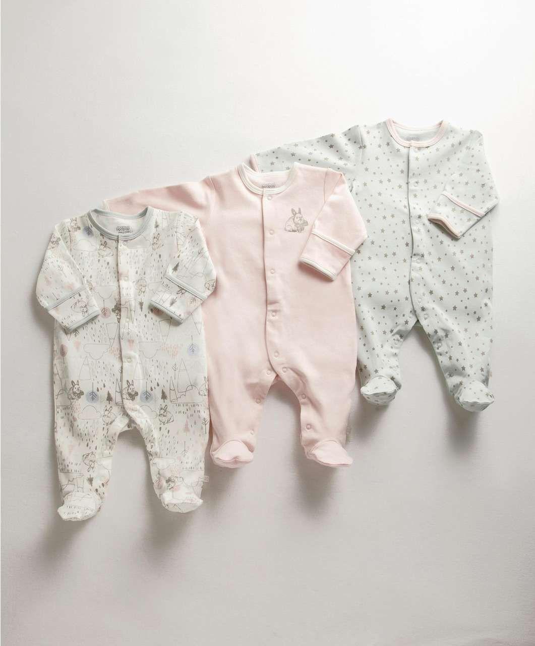 Mamas /& Papas Baby Girls Shortie Dunagree /& Bodysuit Clothing Set