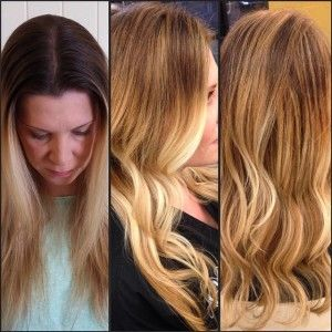 ombre, blonde, long hair, inspiration, Hair by Arielle, Blo ...