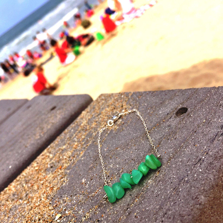 Green Quartz Stone Bracelet by BohoBabeShop on Etsy https://www.etsy.com/listing/400407605/green-quartz-stone-bracelet