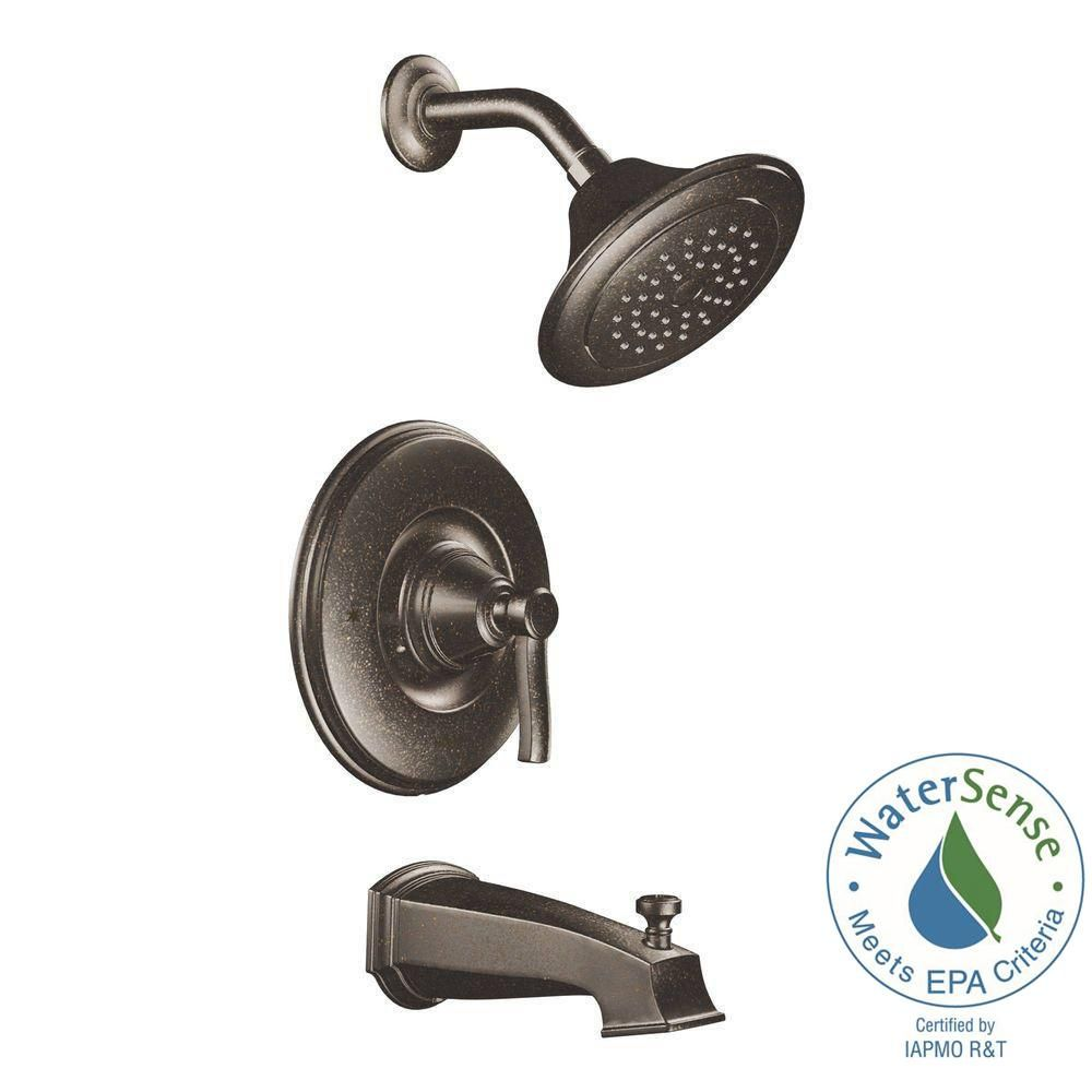 MOEN Rothbury 1-Handle Posi-Temp Tub and Shower Faucet Trim Kit in Oil Rubbed Bronze