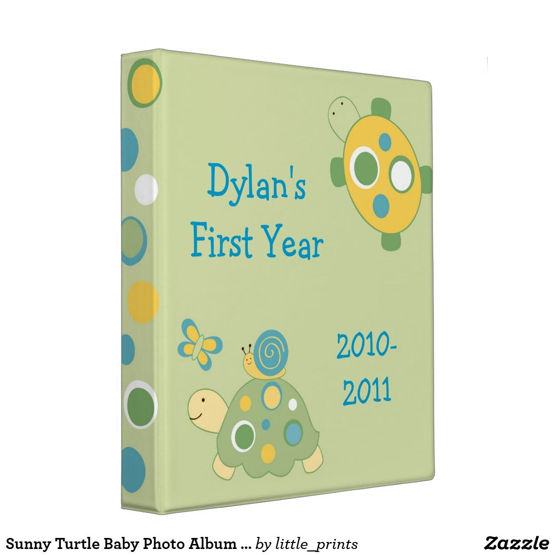 Sunny Turtle Baby Photo Album Scrapbook 3 Ring Binder