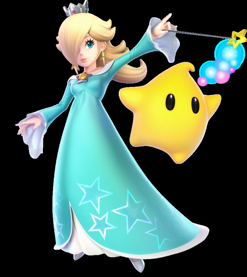 Rosalina Luma In Super Smash Bros Ultimate Super Smash Bros Characters Super Mario Bros Super Mario Galaxy