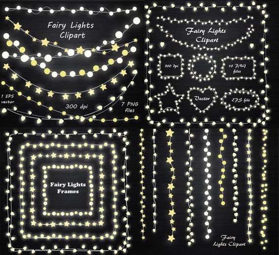 Big set of fairy lights clipart string lights clipart fairy lights big set of fairy lights clipart string lights clipart fairy lights frame lights aloadofball Choice Image