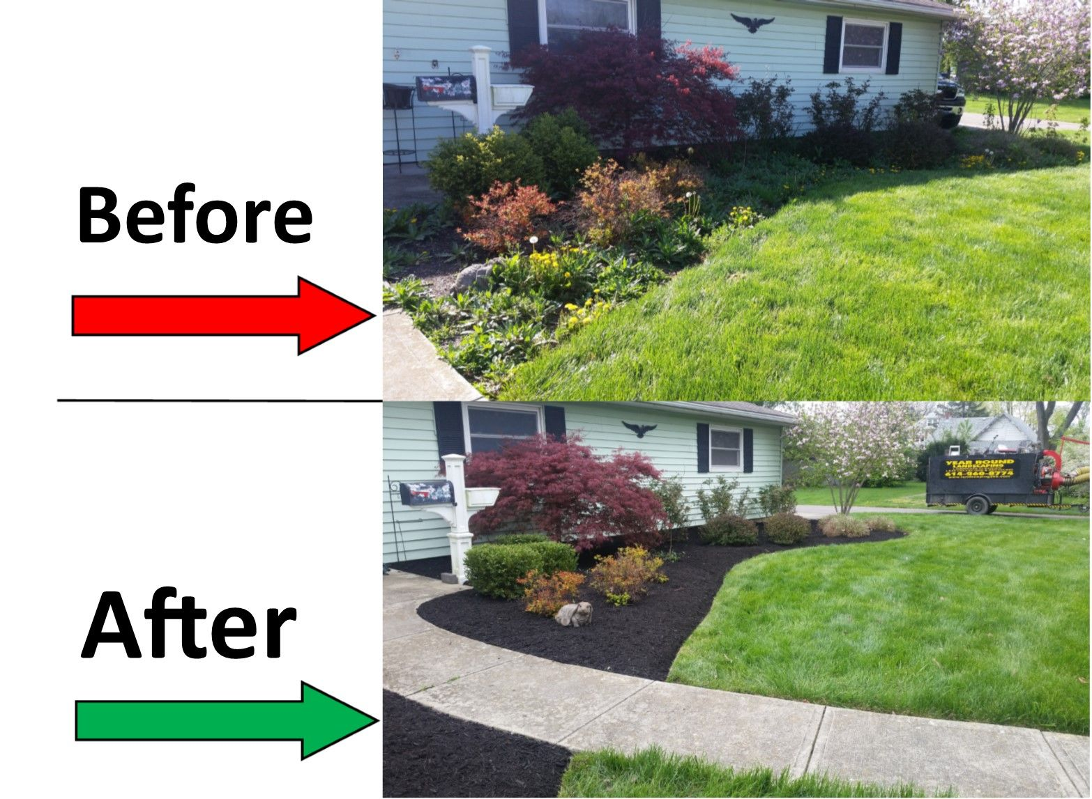 Yard Clean Up Landscaping With Rocks