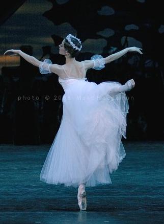 Nelli Kobakhidze as a Wilis in the Bolshoi Ballet's Giselle. Photo by Marc Haegeman