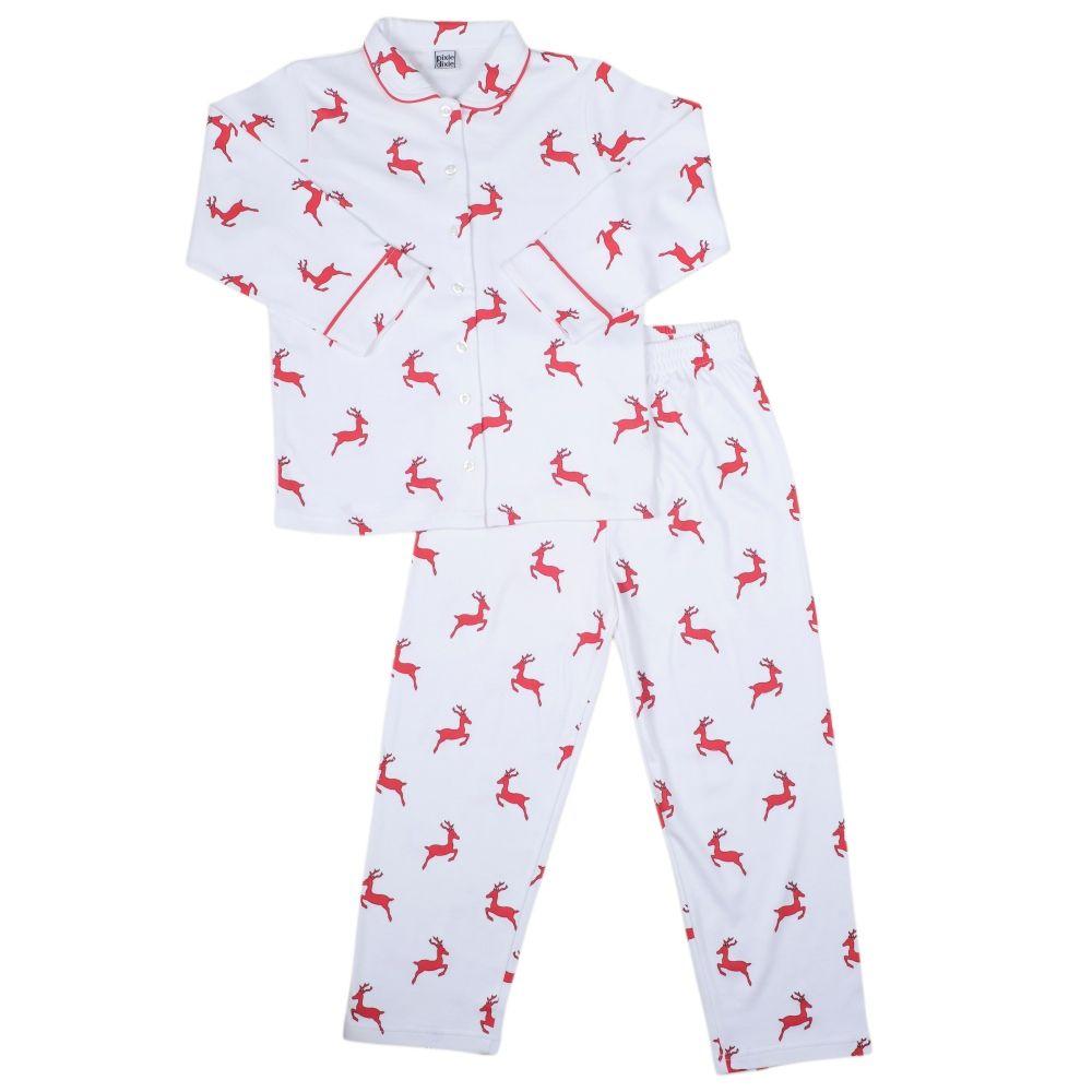 Girls Pyjamas with red Reindeers  d33d8673b