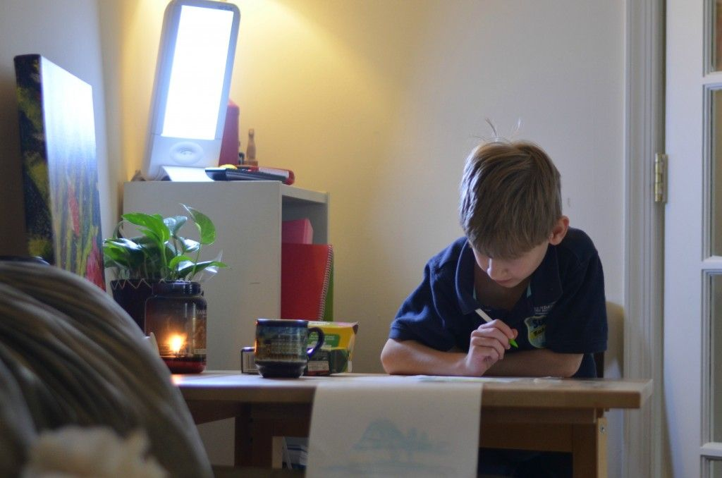 HappyLight brings focus to school work and an extra lift