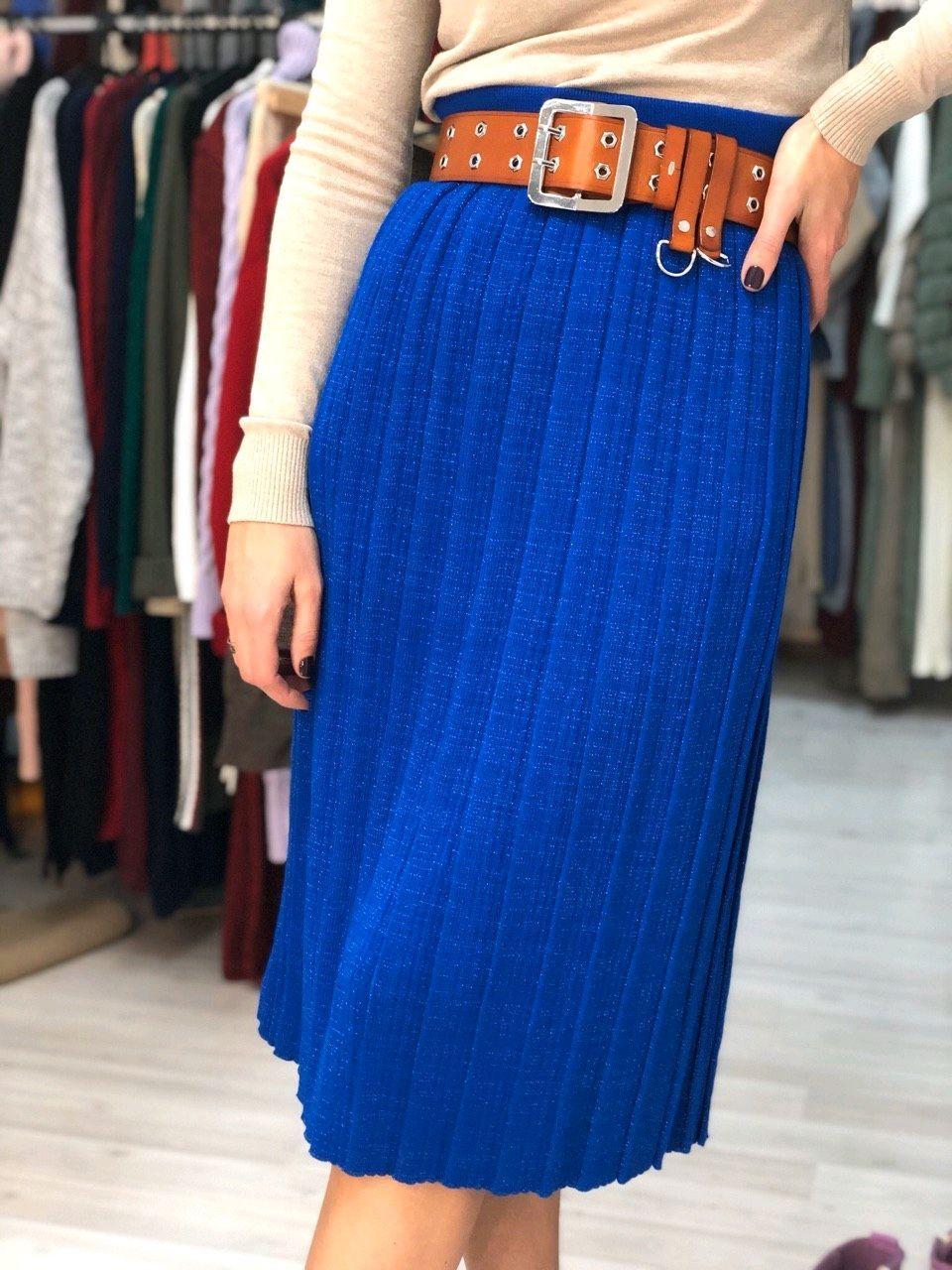 Вязаная юбка плиссе – купить на Ярмарке Мастеров – KBDFWRU ...