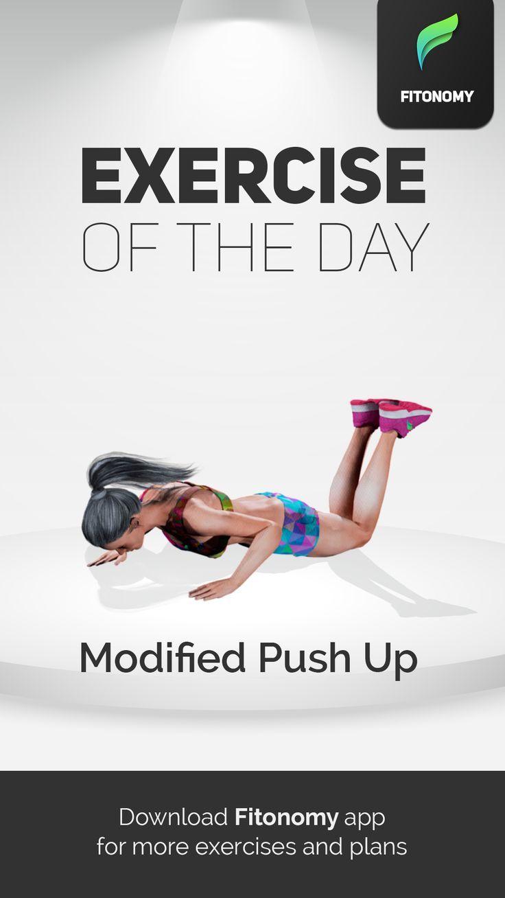 MODIFIED PUSH UP! Fitonomy app, Fitonomy, Flexibility
