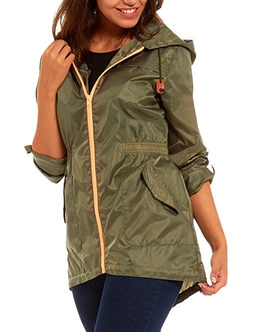 f0b73b814c1 Women s Raincoat lightweight rain mac festival parka jacket Kagool   Amazon.co.uk
