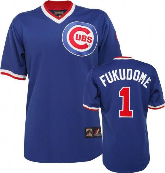 87525d72 canada mitchell and ness cubs 1 kosuke fukudome stitched blue throwback mlb  jersey 24595 3bcae