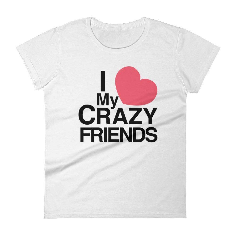 Pink dress emoji  Crazy Friendsu Womenus short sleeve tshirt  Crazy friends Short