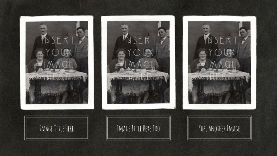 Vintage Photo Album Powerpoint Template e-presentations - free album templates