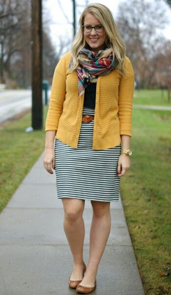 plain yellow scarf outfit 17