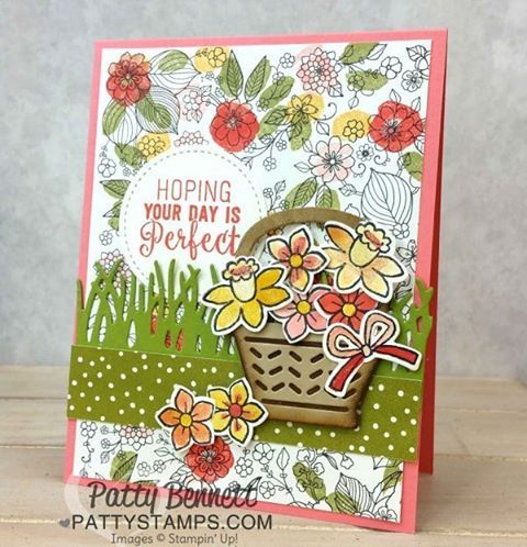 """Gefällt 194 Mal, 4 Kommentare - Patty Bennett Stampin Up demo (@pattystamps) auf Instagram: """"Inside the Lines coloring book paper from the Stampin Up! Sale a Bration line this year is such a…"""""""