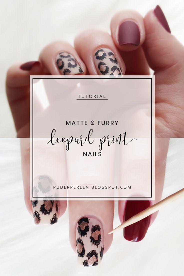 Tutorial] Matte Furry Leopard Print Nail Art #ManiTober | Leopard ...