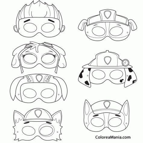 Colorear Máscaras de Patrulla canina | patrulla canina | Pinterest ...