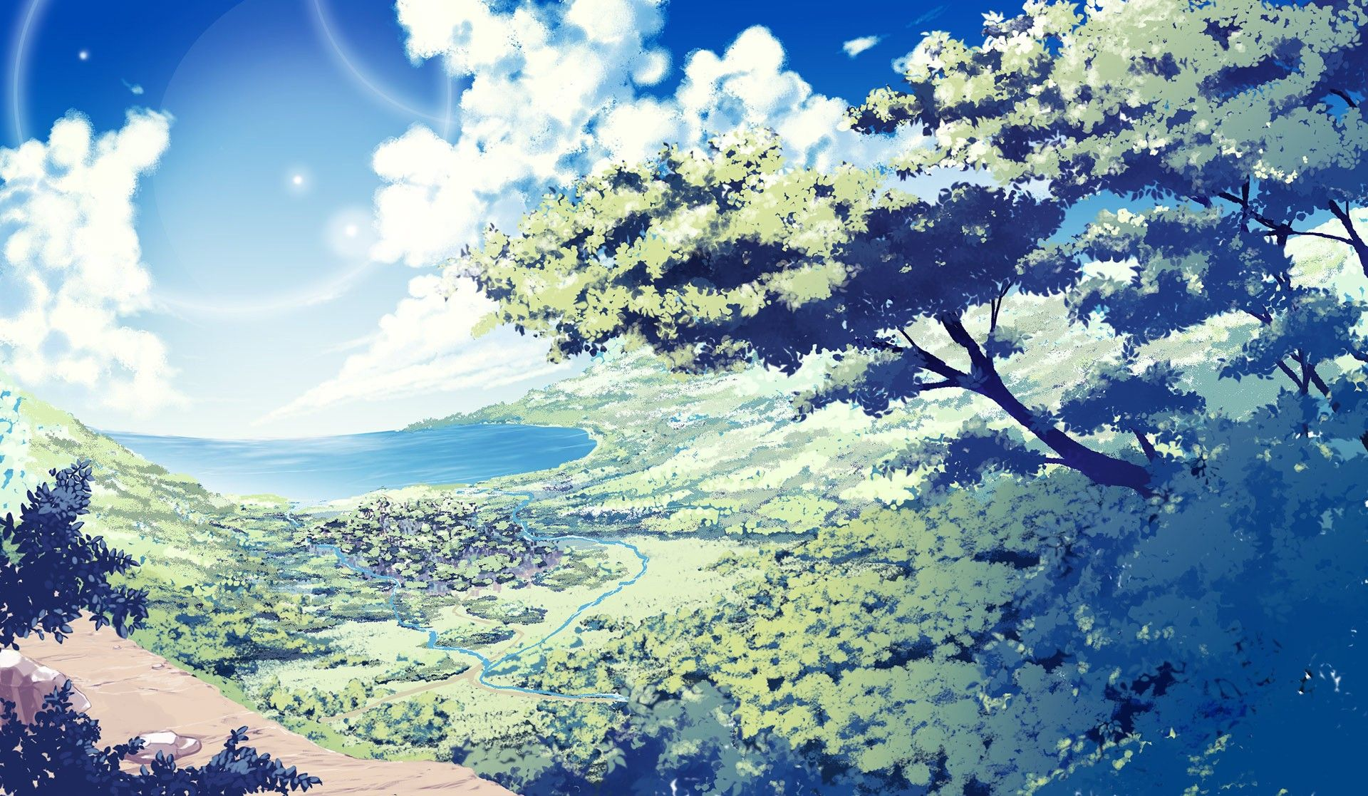 nature anime scenery background wallpaper | resources: wallpapers