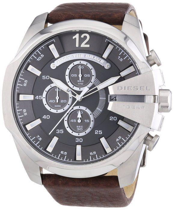 ee8eec5b498 Diesel DX0182040-11 Men s Watch Quartz Chronograph XL Leather DZ4290 ...