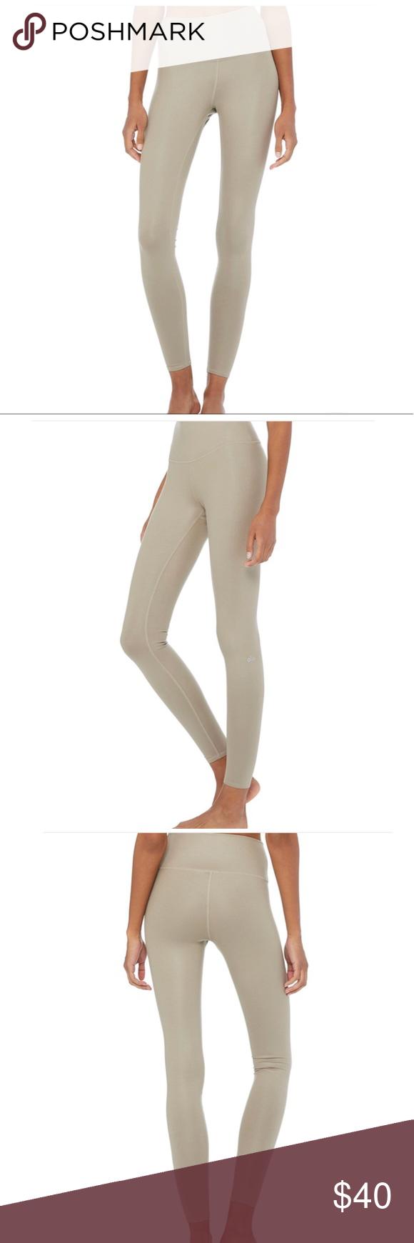 9805d7fabe4f7 Alo Yoga High Waist Airbrush Legging Alo Yoga high waist Airbrush Legging  in Glossy Gravel.