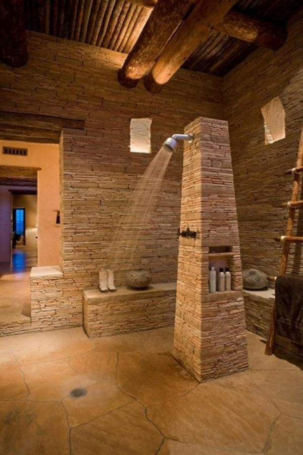 Awesome Natural Stone Bathrooms Home Design And Interior Del Hogar Dise Interiores Decorar
